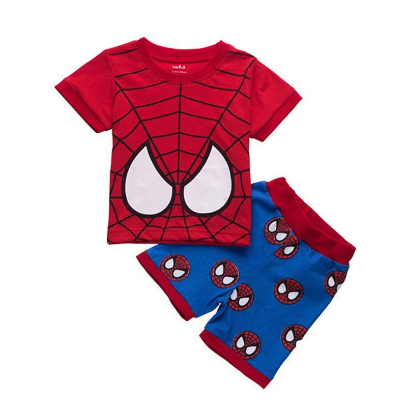 Boys Pyjamas Marvel Spiderman Pajamas Summer Shorty Pjs Spidey 3 to 10 Years