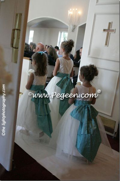 Blue Flower Girl Dresses Pegeen