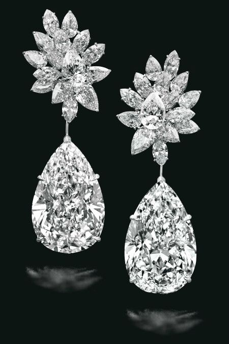 Miroir De L Amour A Sensational Pair Of 52 55 And 50 47 Carats D Colour Flawless Clarity Type Iia Diamond Earrings By Boehmer Et Benge