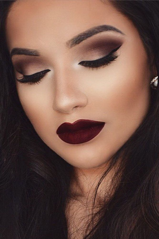 Image result for burgundy makeup