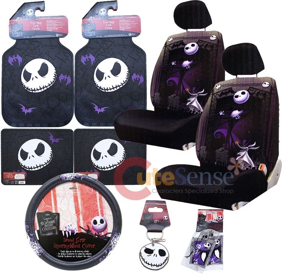 Nightmare Before Christmas Car Seat Covers Accessories Set Jack Low Back 12pc  Nightmare before