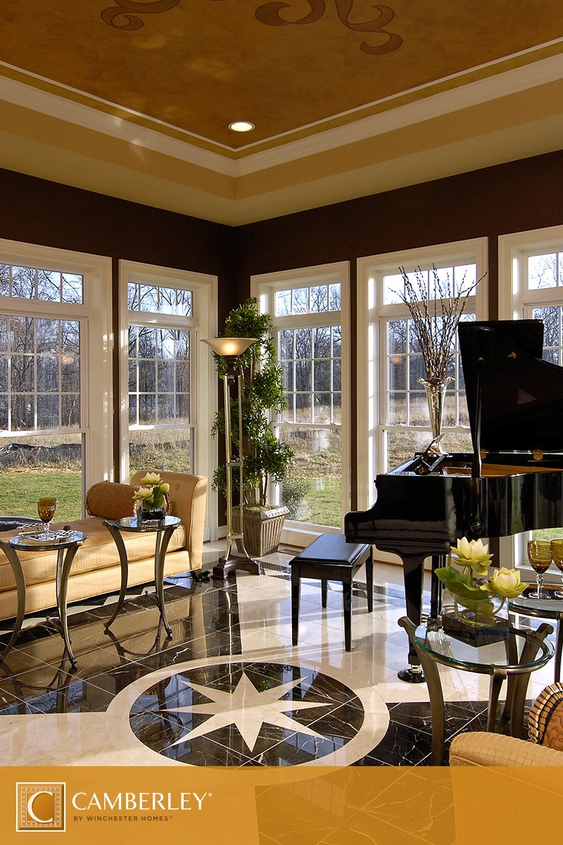 Grand Living Room: The Classically Elegant Sunroom In The Harrison Model Is