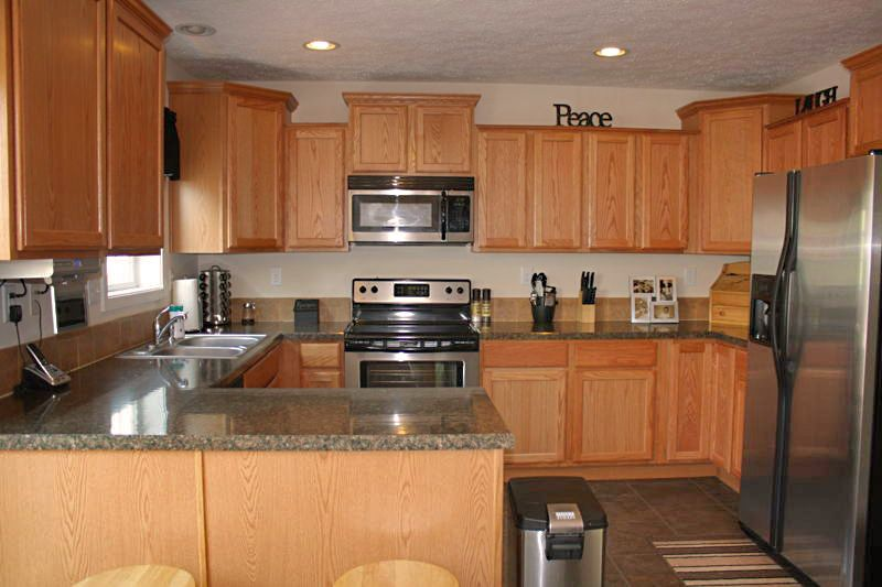 Modular home kitchen. So many options!