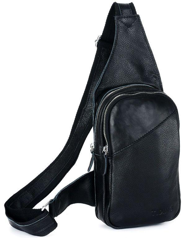 TIDING Genuine cowhide leather boys Satchel travel bag men sling ...