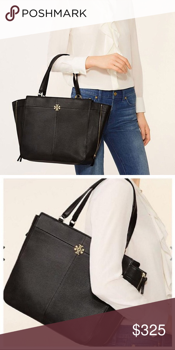 ff2a6a31976 Tory Burch Ivy Side-Zip Tote 100% Authentic Brand New with Tag Holds a