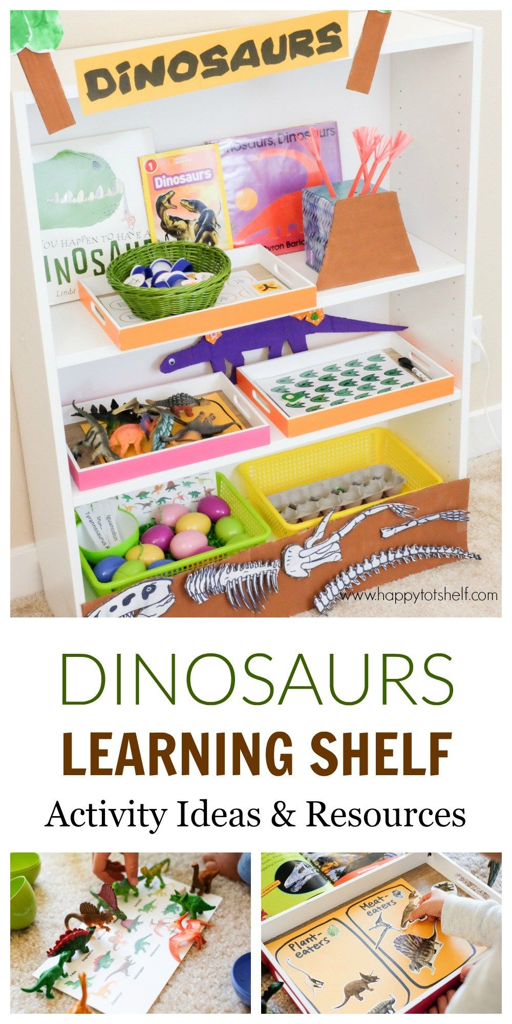 Dinosaur Theme Learning Activities and Learning Shelf images
