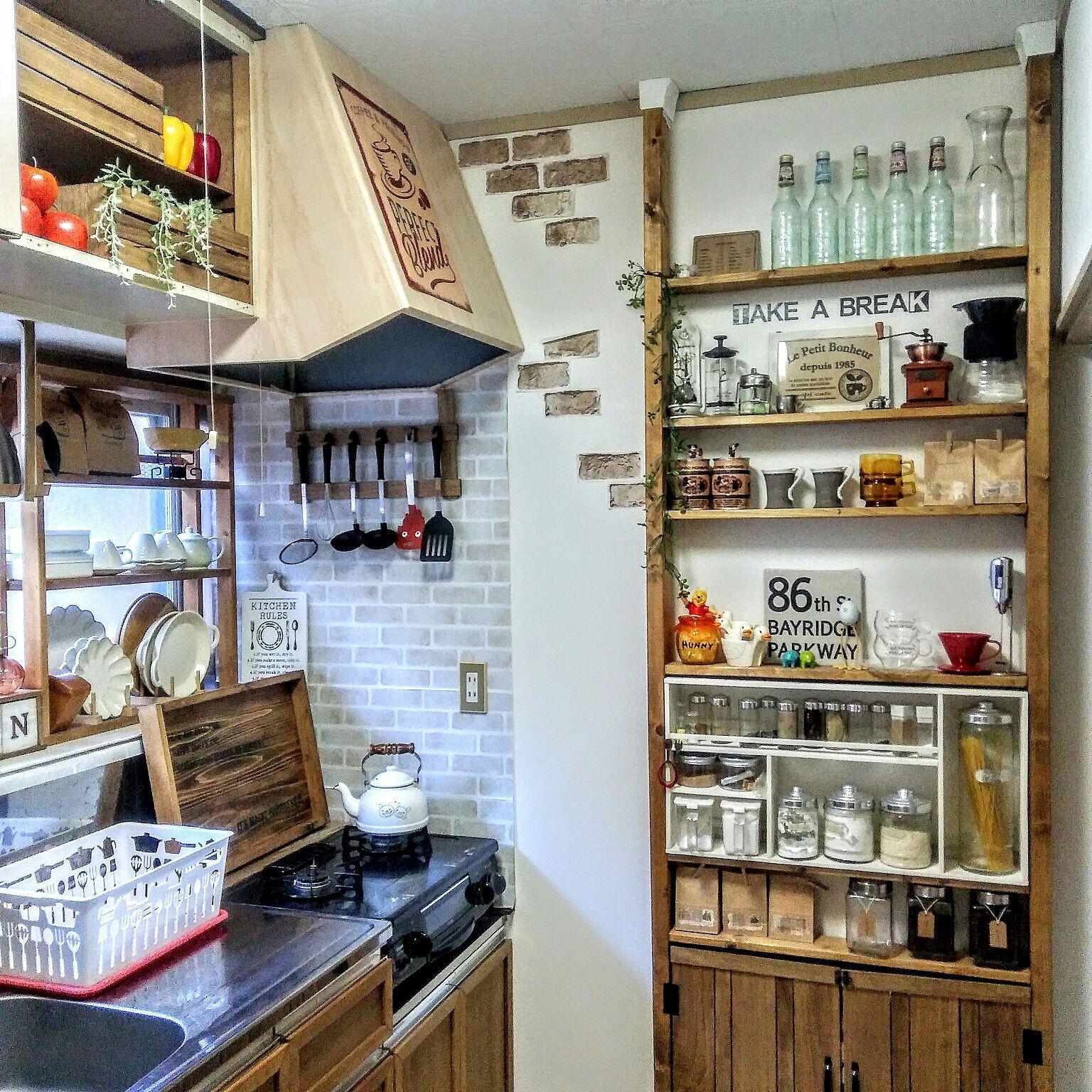 キッチン 2 4 1k 賃貸 賃貸アパート などのインテリア実例 2017 11