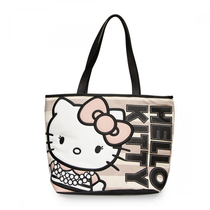 4269c5ef0 Loungefly Hello Kitty Pearls/Stripe Tote | Hello Kitty | Hello kitty ...