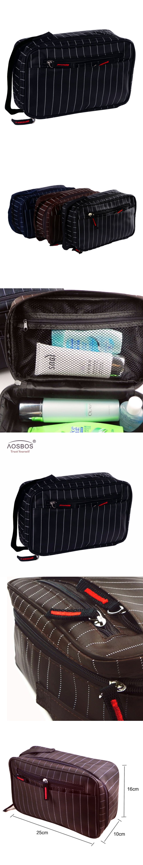 46ff13f244 Aosbos New Men Multifunction Striped Waterproof Toiletry Bag Portable  Travel Cosmetic Organizer Bag Men Zipper Wash