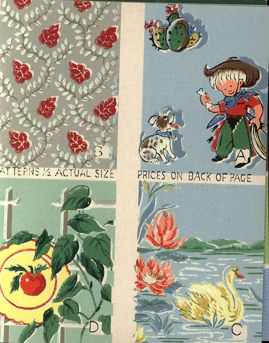 Vintage wallpaper from 1953 by Sears (59) Wallpaper