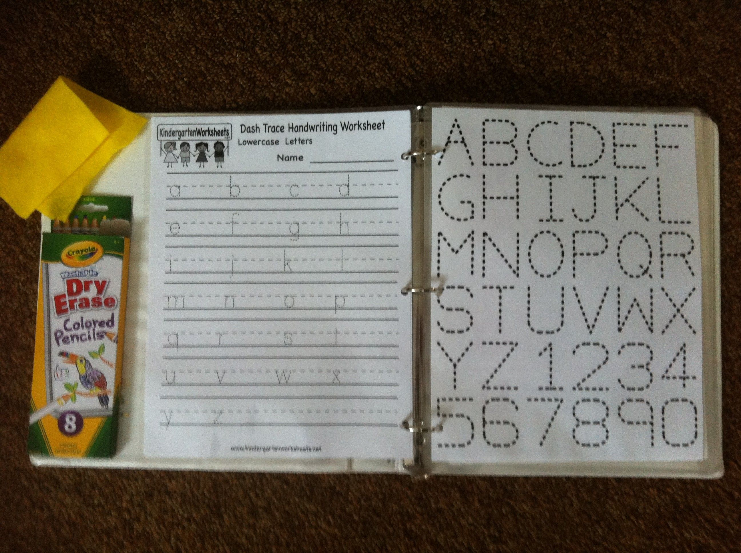 Dry Erase Practice Letters And Numbers