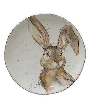 Southern Living Easter Tuft Bunny Salad Plate #Dillards  sc 1 st  Pinterest & Southern Living Easter Tuft Bunny Salad Plate #Dillards | I Want ...