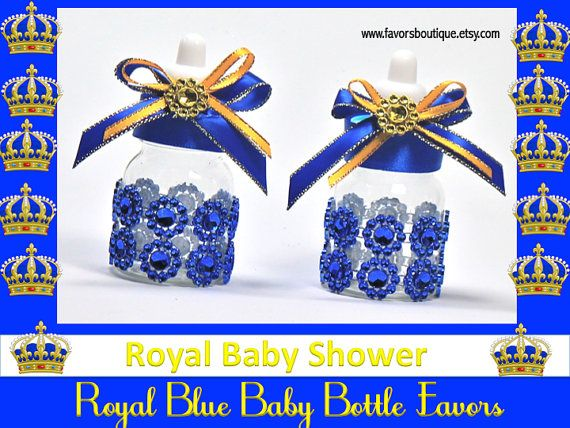 Royal+prince+baby+shower+decorations | Royal Blue Baby Bottles, Little