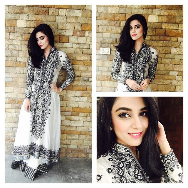Dolled up for the promotions of MANN MAYAL... And big thanks to @nomiansari for such a beautiful dress... Loved it😍😍 and obviously thank u @babarzaheerofficial for making me beautiful😘😘 #mannmayal #wearing #nomiansari #beautifuldress #promotions #makeup #babarzaheer #morningshow #humtv #mayaali