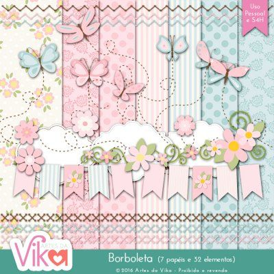 Kit Digital Borboleta By Vika Matos Papel Digital Gratuito Free