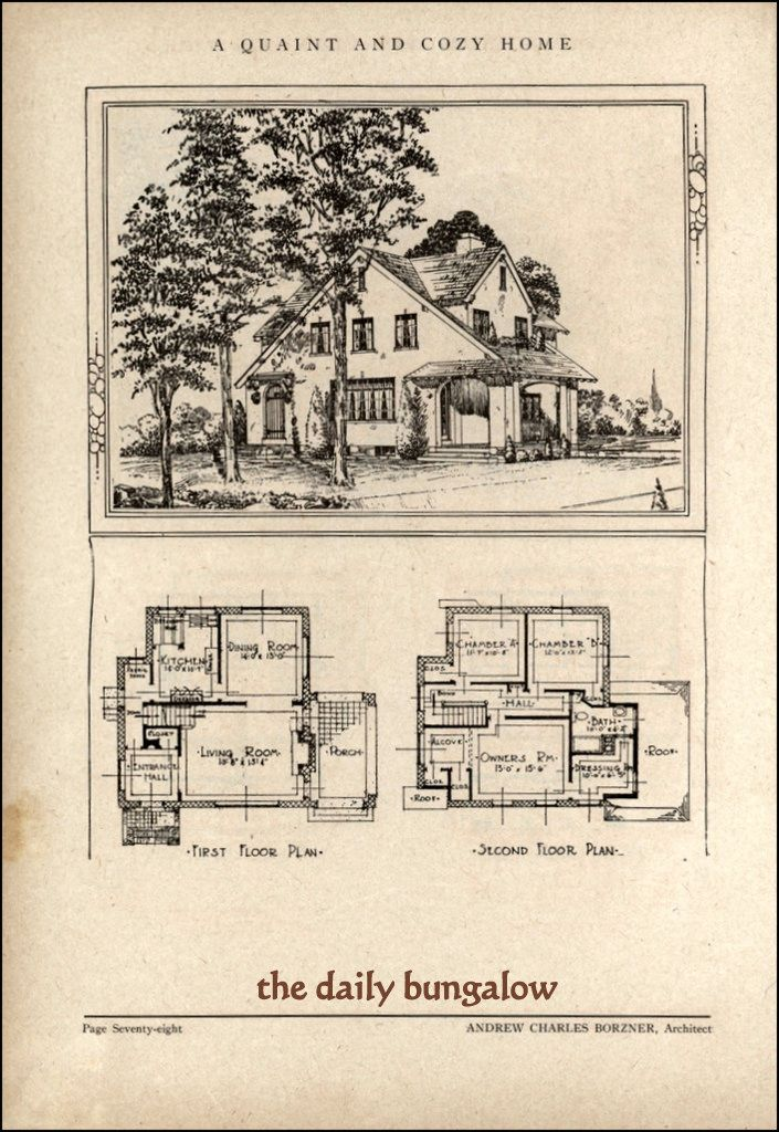 Andrew Charles Borzner 1928 Beautiful Homes Vintage House Plans Old House Design Beautiful Homes