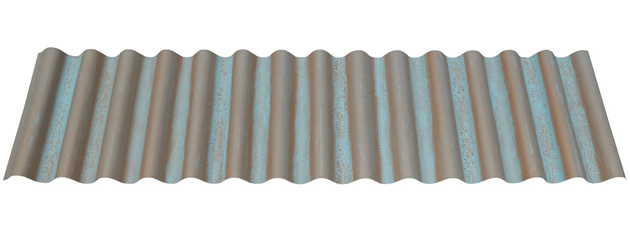 Best Streaked Copper Corrugated Metal Roofing Panels 400 x 300