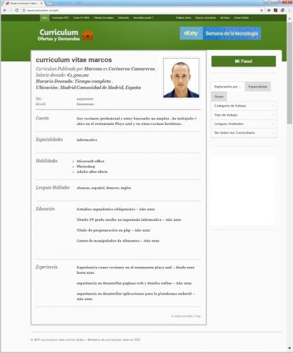 Curriculum Vitae Gratis Online Modelos De Curriculum Vitae