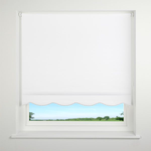 Details About Scallop Edge Roller Blind Braided Scallop