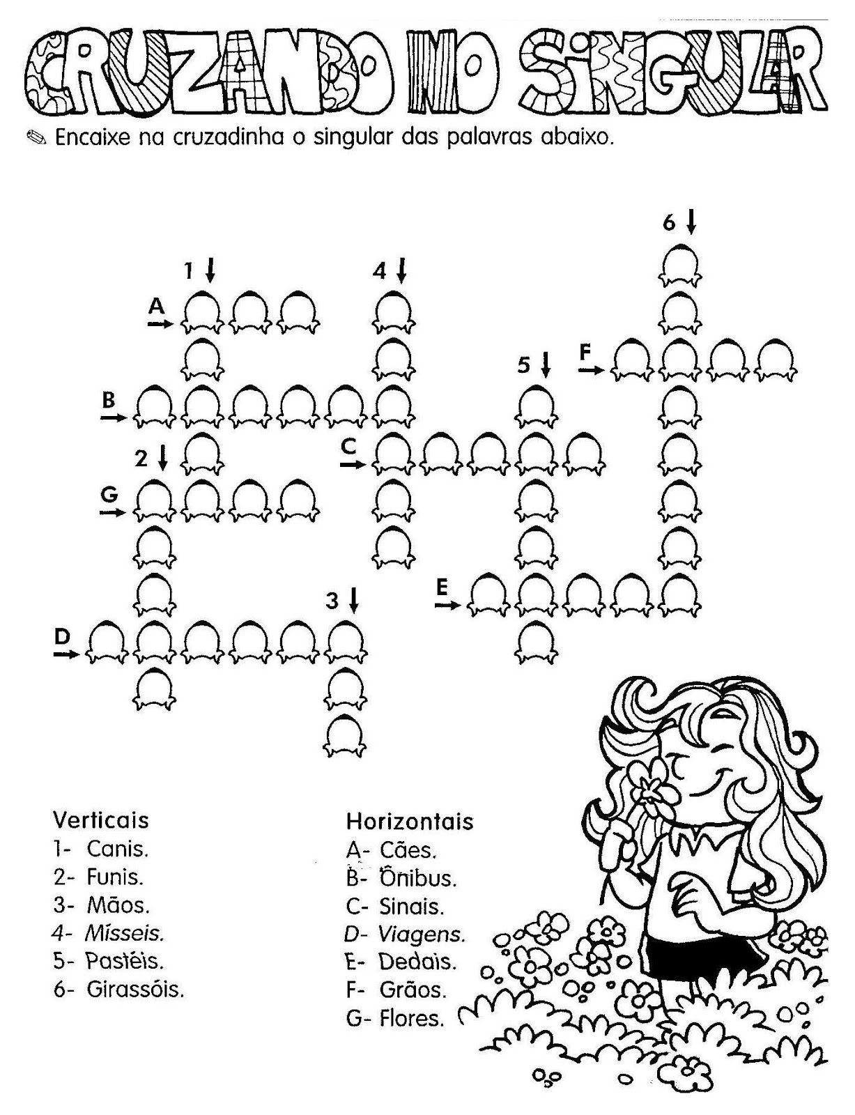 Atividades De Portugues Singular E Plural Atividade De
