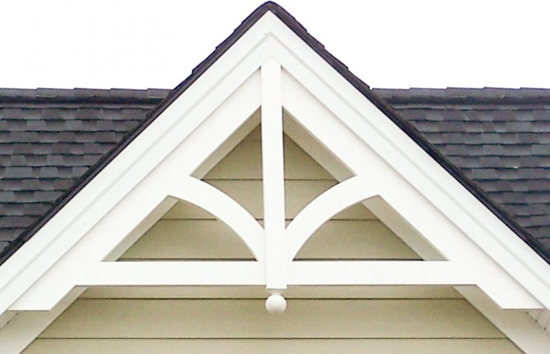 Decorative Gable: GP200 With FINIAL · Exterior TrimExterior House ...