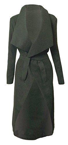 Italien cascade Kim KARDASHIAN CELEBRITY Jewellery Manteau Veste longue  ceinture Cape Cardigan femme - Noir -