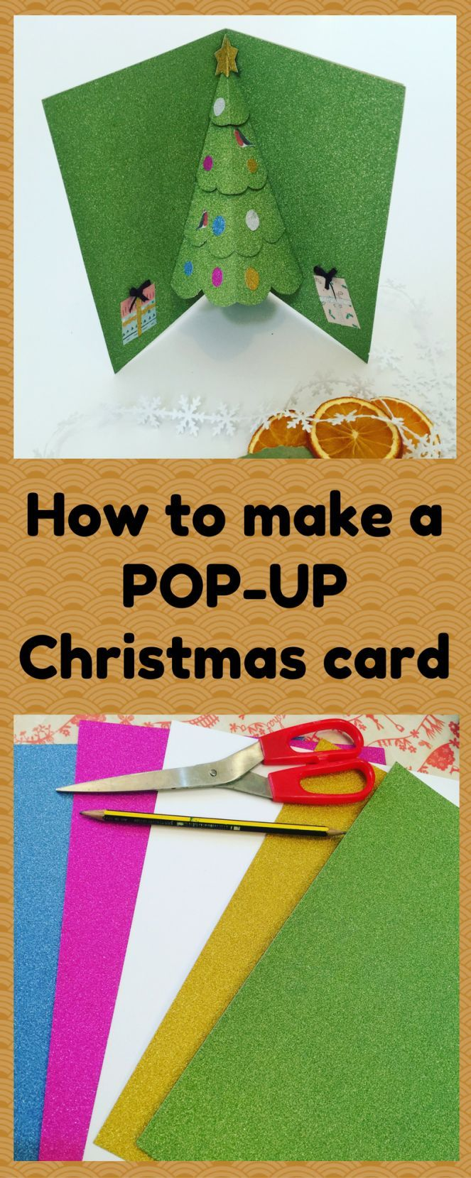How to make a POP-UP Christmas Card | Paper crafting | Pinterest ...
