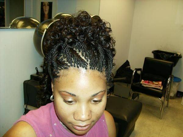 hairstyles/ braids. curly and braids hairstyle updo curly and braids ...