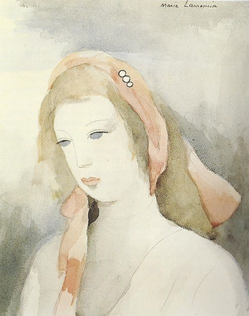 Woman With Pink Scarf Marie Laurencin Peintre Impressionniste