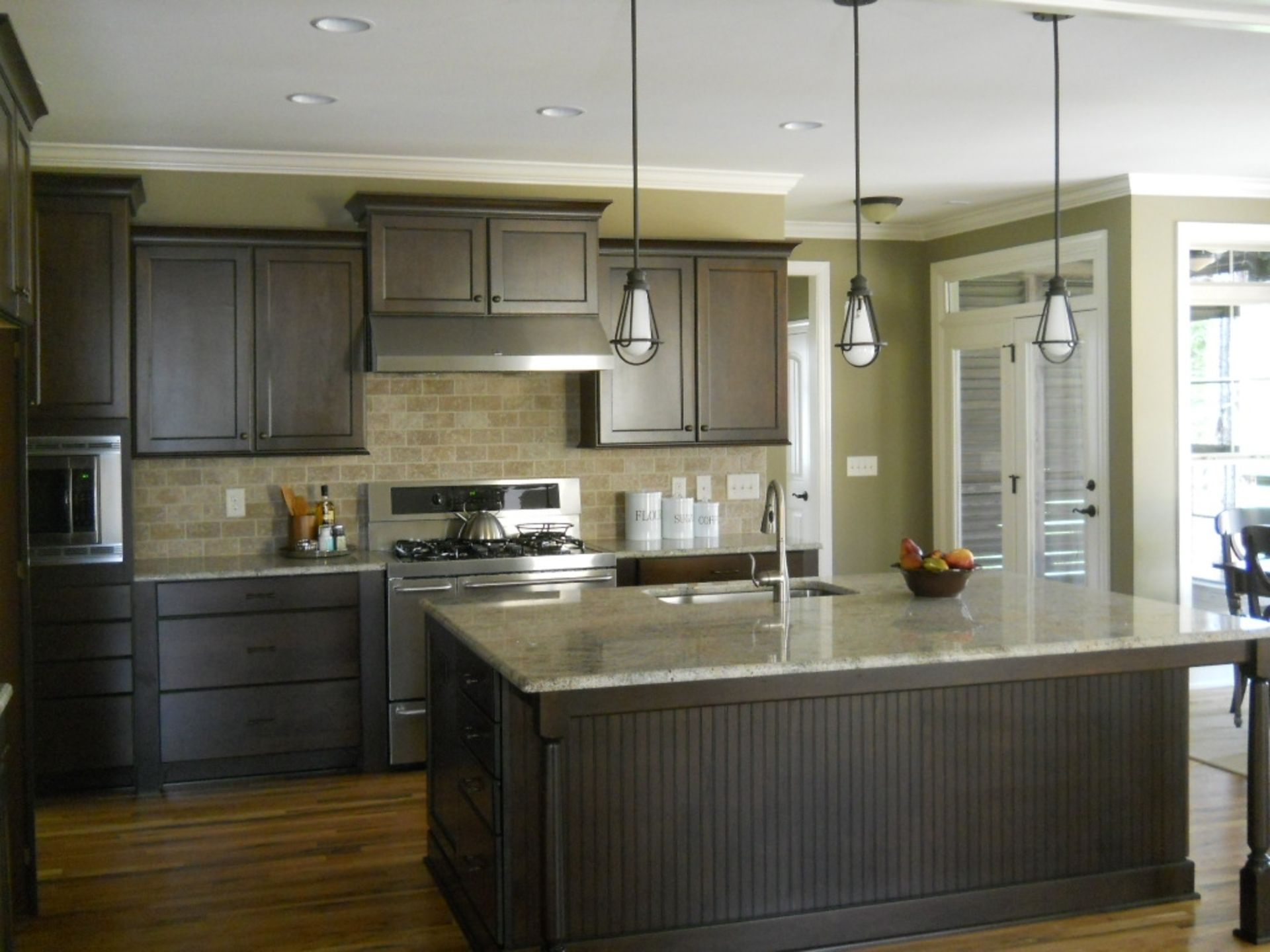 Light Gray Kitchen With Dark Cabinets Change The Look Of Your House To Be Like A New Home Interior