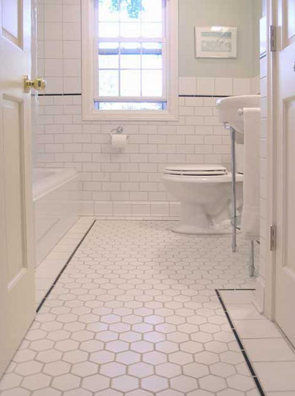 How To Choose The Right Bathroom Floor Tile Ideas For Various Designs Houseminds Small Bathroom Renovations White Bathroom Tiles Vintage Bathroom Tile