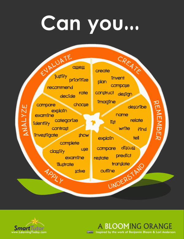 Bloom's Taxonomy verb poster