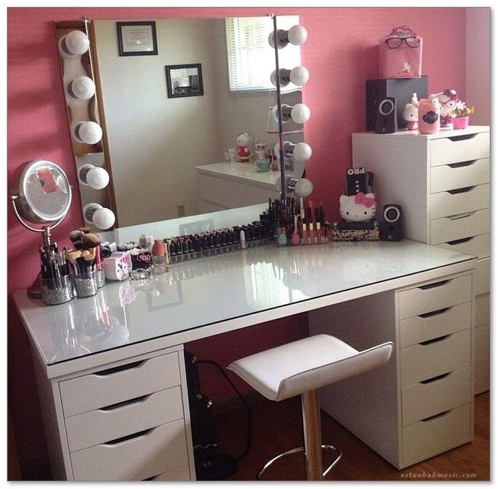 48+ Glass top makeup vanity with drawers ideas in 2021