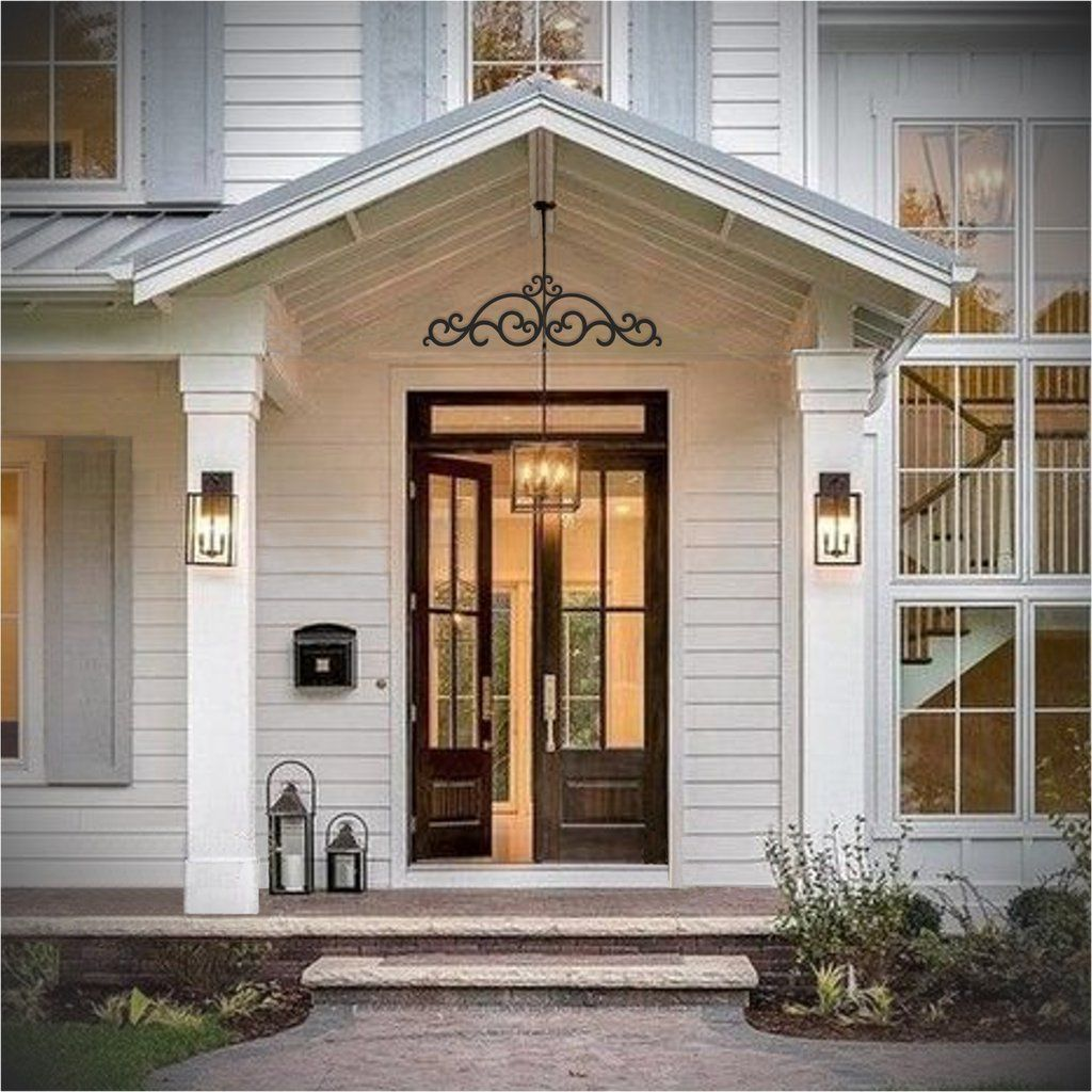 Beautiful curb appeal - Outdoor Faux wrought iron ...