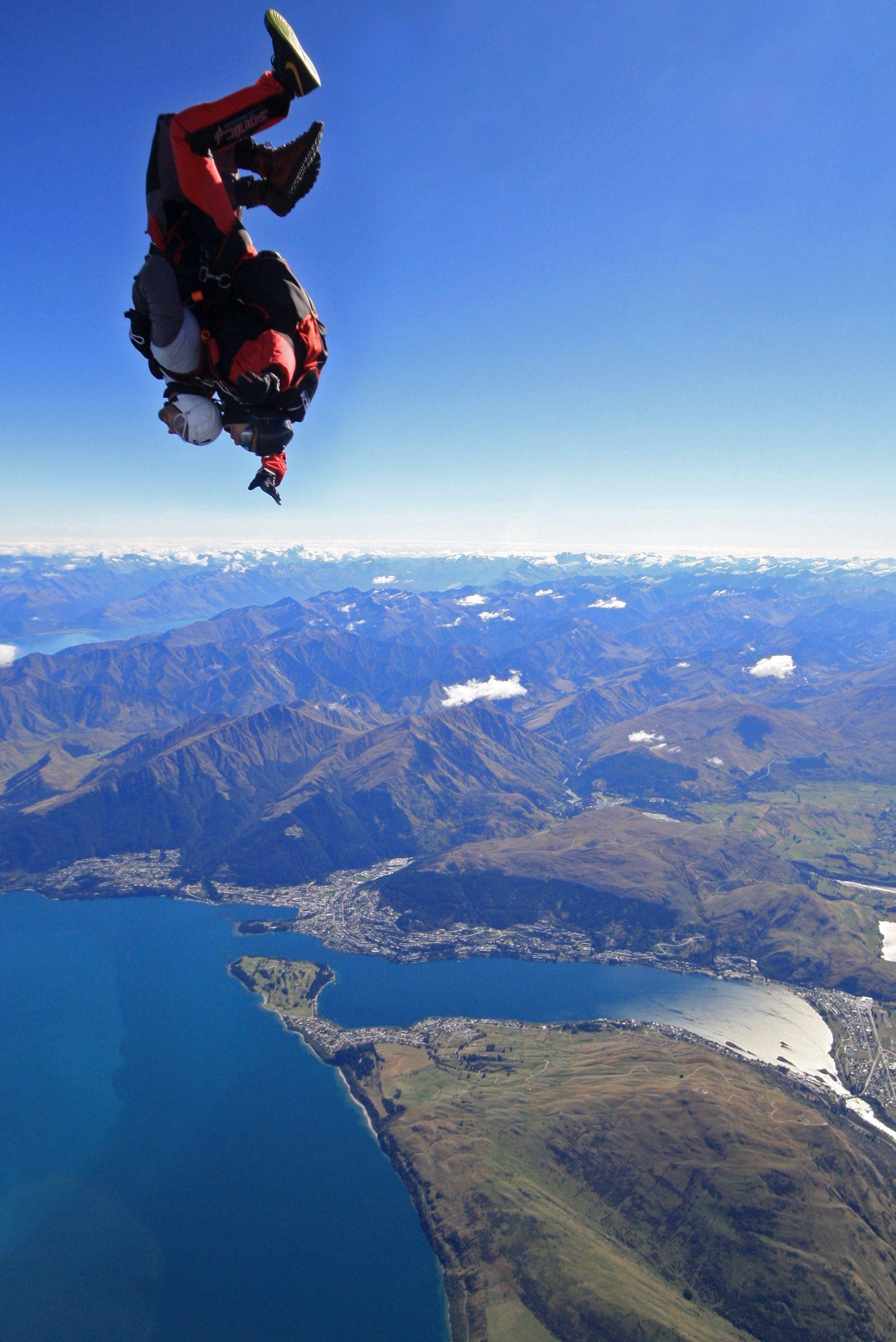 Skydiving Over Stunning Queenstown Scenery Queenstown Skydiving Travel Fun Dream Honeymoon