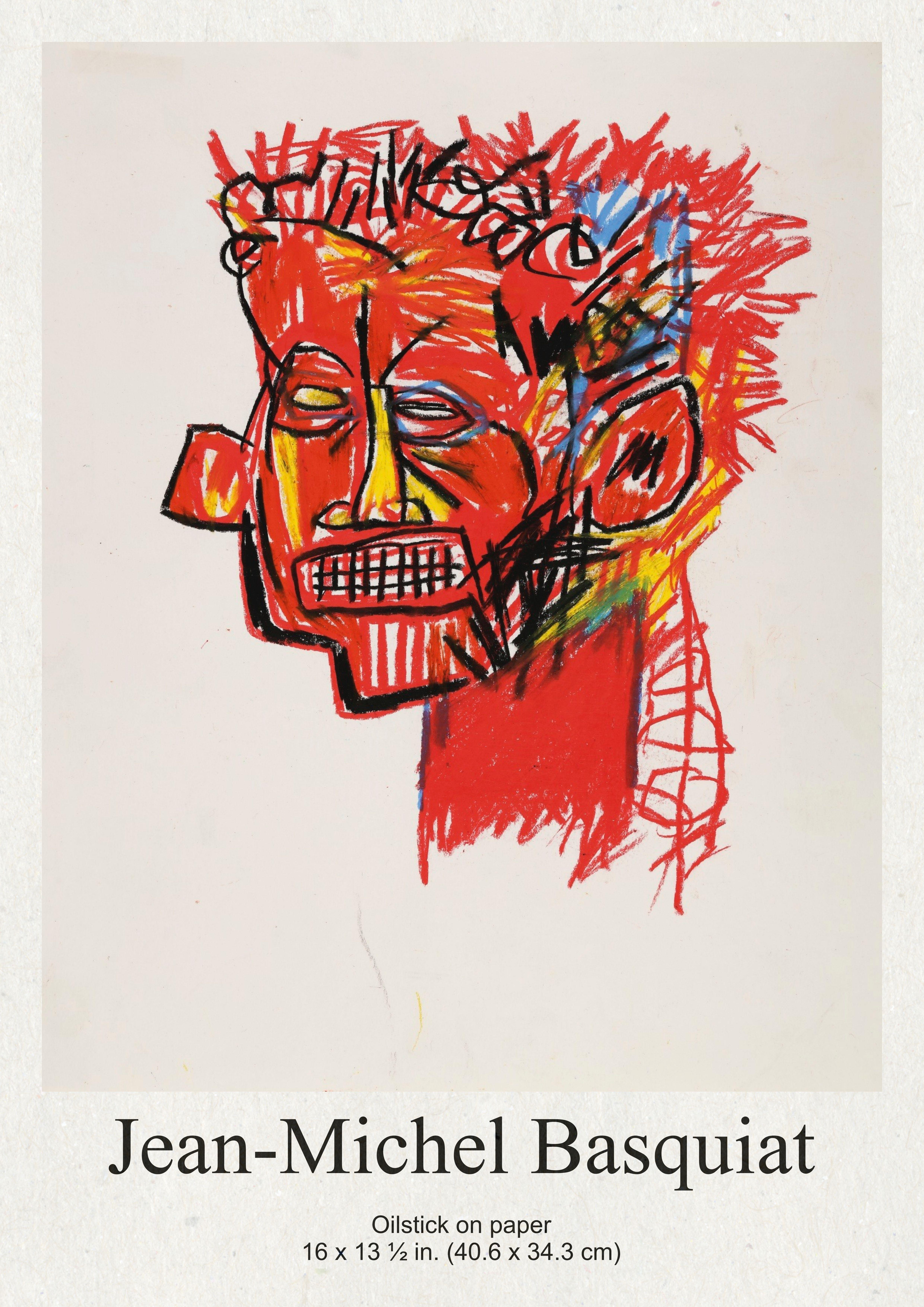 60 cm JIUJIUJIU Graffiti Master-Jean-Michel Basquiat-Graffiti Affiche et Impressions Toile Peinture Moderne Mur Art Photo pour Salon d/écor /à la Maison sans Cadre 40