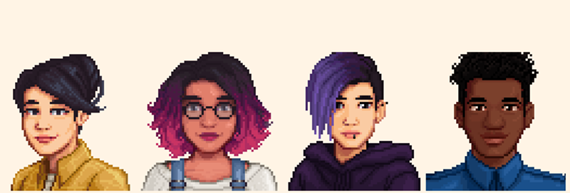 Stardew Valley Player Mods Game To Make Characters More Diverse Stardew Valley Valley Anime People