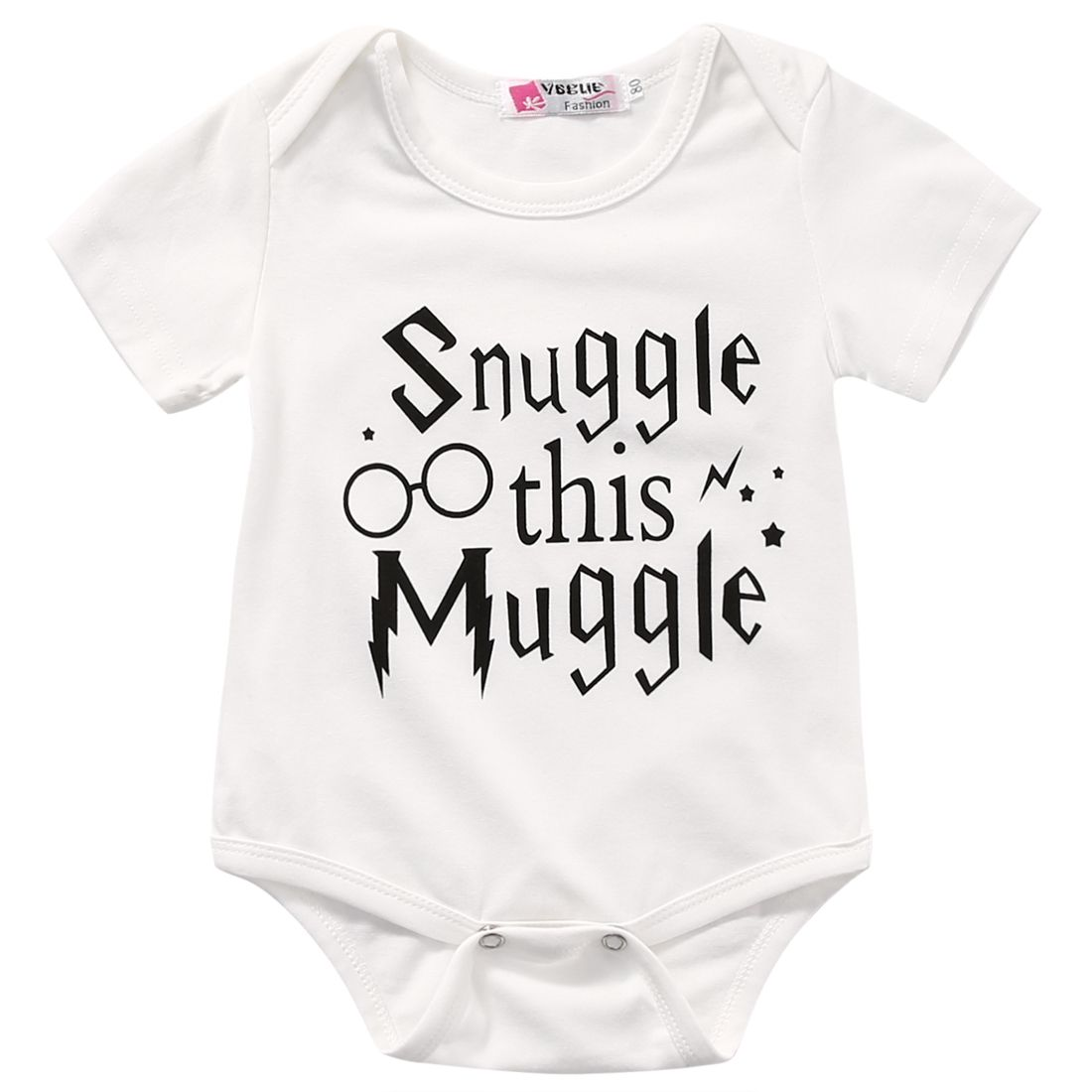 1811c0bc1241b Snuggle This Muggle Harry Potter Baby Romper | Baby Rompers | Baby ...
