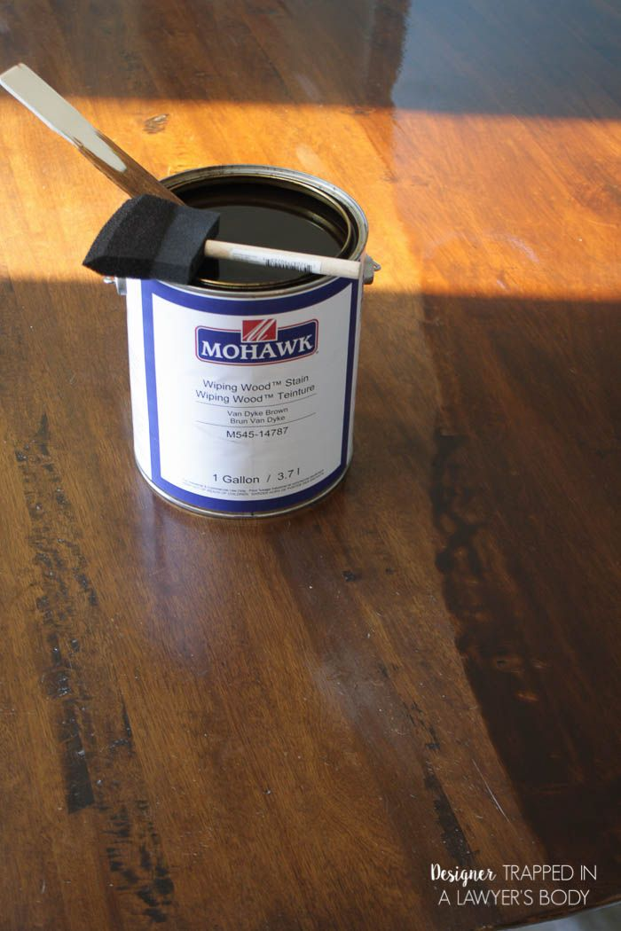 How To Refinish A Table Without Sanding Stripping Painted