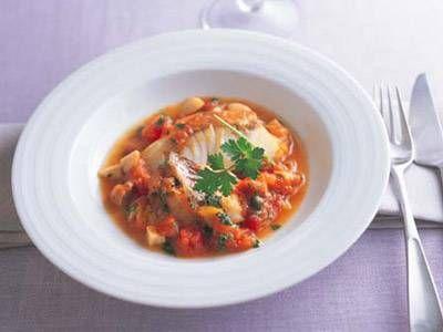 白身魚のソテーオレンジトマトソース | 魚は少量にして、オレンジの香りさわやかなソースをたっぷりいただきましょう。