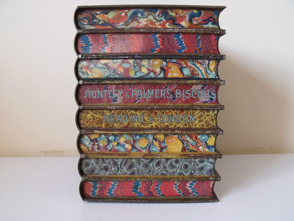 Antique Huntley & Palmers 'Book' Biscuit tin.