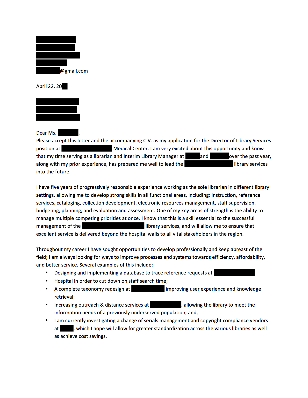 anonymous cover letters