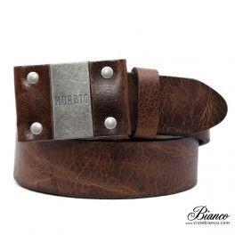 Cinturón en piel marrrón