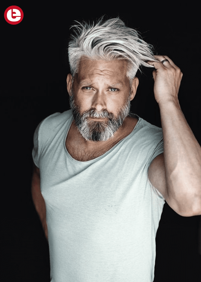 Stylish Old Men In Summer Grey Hair Men Mens Hairstyles Haircuts For Men