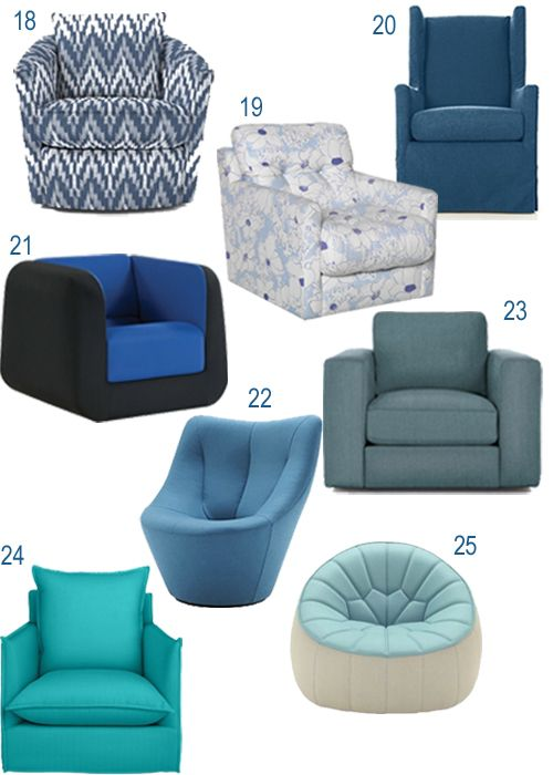 Modern Blue Turquoise Upholstered Swivel Chairs Part 83