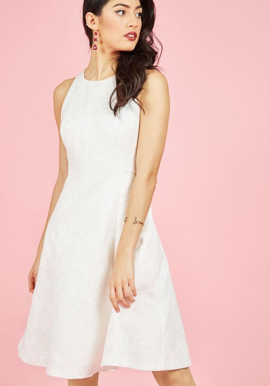 Elegant Evolution A-Line Dress in Ivory | Cosas