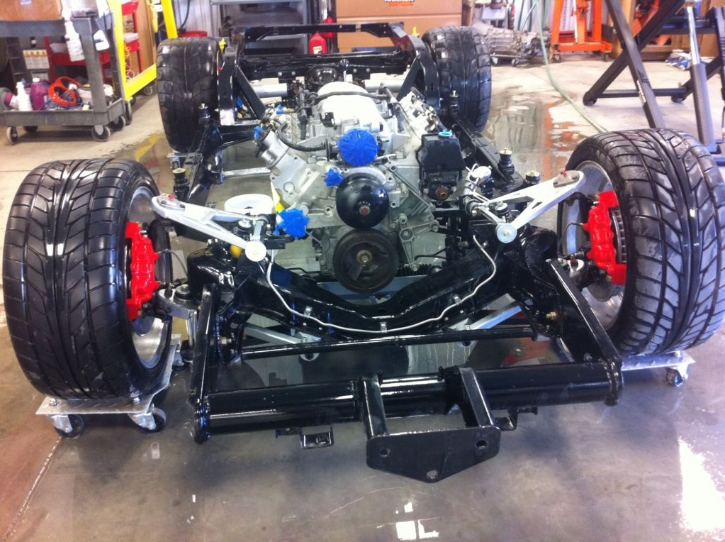 76 corvette frame ready. LS1. Richmond 6. Vette Brake Products ...