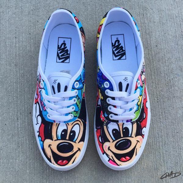 Disney Mash Ups 2 Custom hand painted Vans shoes | Vans