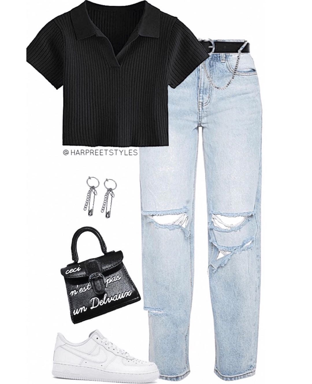 Virtual Stylist On Instagram Cool Kid Prettylittlething Nikeairforce1 Virtualstylist Vi In 2020 Fashion Inspo Outfits Retro Outfits Cute Casual Outfits