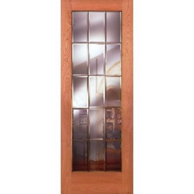 Feather River Doors 30 In X 80 In 15 Lite Unfinished Pine Clear Bevel Brass Woodgrain Interior Door In 2020 Doors Interior Mahogany Doors Interior Buy Interior Doors